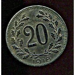 Austria:20 hellerit 1918, VF-