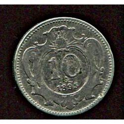 Austria 10 hellerit 1895, VF-