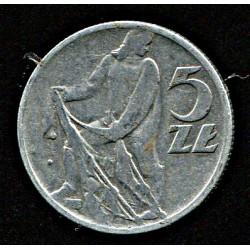 Poola 5 zlotti 1959, VF