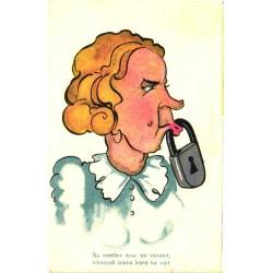 Naisel suu tabaga lukus,...