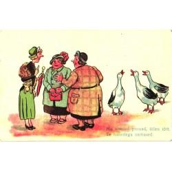 naised rääkimas nagu haned,...