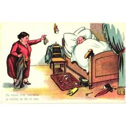 Mees voodis ja kuri naine,...