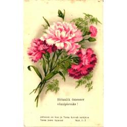 Lilled postkaardil,...