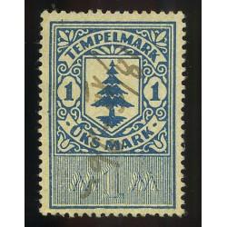 Eesti 1 margane tempelmark,...