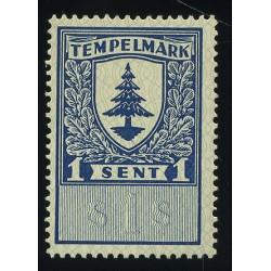 Eesti 1 sendine tempelmark,...