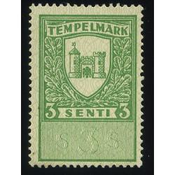 Eesti 3 sendine tempelmark,...